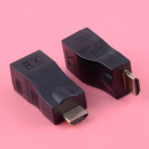 4K HDMI 30M to RJ45 Extender by 1080p CAT-5e/6 Cable Network Ethernet Adapter Ly