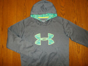 UNDER ARMOUR STORM COLD GEAR GRAY HOODED SWEATSHIRT WOMENS MEDIUM EXCELLENT