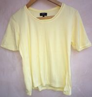 Ladies Yellow Round Neck Top Size 12 Papaya<NH5489