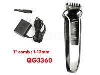 Philips Norelco 3360 Multigroom Plus clipper beard QG3360 Host + comb(1-12mm)