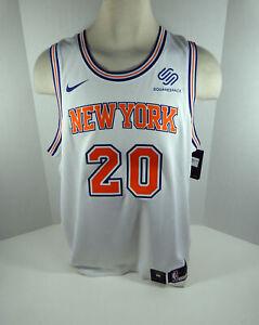 Mens New York Knicks Kevin Knox #20 White Statement Jersey Swingman XL Nike NWT