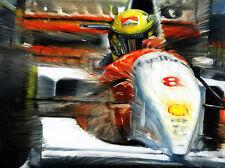 Ayrton Senna McLaren Ford MP4/8 Monaco 1993 Formula 1 Helmet F1 Art Print Poster