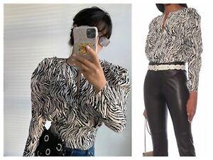 Isabel Marant silk long sleeve blouse sz S