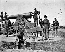 New 8x10 Civil War Photo: Seige Gun and Crew at Fort Corcoran, Arlington