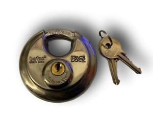 KEYED ALIKE STAINLESS STEEL DISCUS SPACELOCK PADLOCK  70MM (Same Keys)