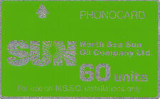 (BX) SUN Oil Company Offshore Oil Rig Phonecard - used