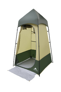 Outdoor Lighted Shower Tent Changing Clothes and Bath Shelter Durable Frame