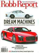 Robb Report Magazin August 2016 fliegende Autos, neue Porsche 959 Seoul Korea