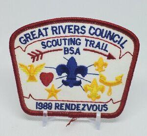 1989 Great Rivers Council Rendezvous Patch BSA Boy Scouts