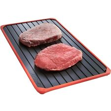 VonShef Defrosting Tray - Aluminium High Quality Thawing Plate for Frozen Foods