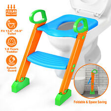 Kids Potty Trainer Toilet Seat Chair Toddler With Ladder Step Up Training Stool