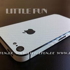 iPhone Hülle Case Aufkleber Carbon Sticker Klebefolie Schutz für iPhone 5 Weiß
