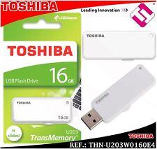 PENDRIVE TOSHIBA 16GB THN U203W0160E4 BLANCO MEMORIA USB 2.0 RETRACTIL YAMABIKO