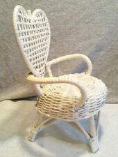 White Doll Chair Wood woven decoration display bedroom decor