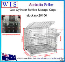 HD 6 Forklift Gas Bottles Storage Cage with Lid,Collapsible Metal Cage-20106