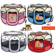 Large Fabric Dog Crate Cat Cage Pet Travel Puppy Play Pen Pop up Tent Foldable