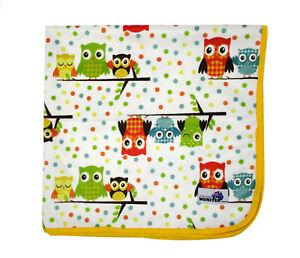 Colorful Owls & Spots Change Mat - Soft Reusable Cloth Waterproof Multi-Function