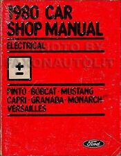 1980 Ford Electrical Shop Manual Mustang Granada Pinto Capri Versailles Monarch