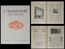 L'ARCHITECTURE 1930 SALLE CORTOT, PERRET, HOCHE,THEATRE MARIGNY, EGLISE ISMAILIA