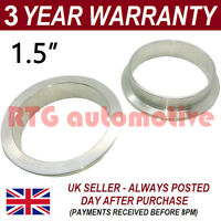 """V-BAND CLAMP STAINLESS STEEL EXHAUST TURBO HOSE REPLACEMENT FLANGES 1.5"""" 38mm"""