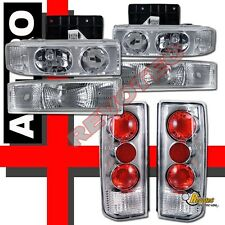 1995-2005 Chevy Astro Van Headlights w/ Bumper Signal Lights & Tail Lights