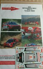 CALCOMANÍAS 1/18 REF 940 MITSUBISHI LANCER GALLI WRC RALLYE TURQUÍA 2005 RALLY