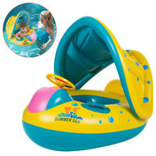 Summer Baby Swim Ring Inflatable Toddler Float Swimming Pool Water Seat Canopy