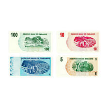 Set of 4 diff. Zimbabwe 2007-2009 Au-Unc.
