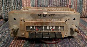 1957 1958 1959 Ford Radio Galaxy Fairlane 500 Factory AM Push Button Radio