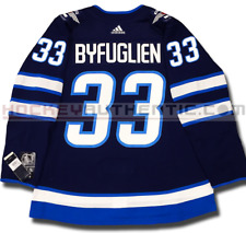 DUSTIN BYFUGLIEN WINNIPEG JETS ADIDAS ADIZERO HOME JERSEY AUTHENTIC PRO