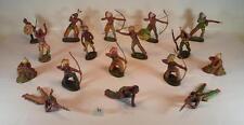 Elastolin Masse Figuren Wildwest Indianer Konvolut mit 17 Indianern #099