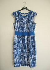 JAEGER size 12-14 sheath dress polka dots