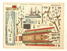 Pellerin Imagerie D'Epinal- 873 Le Renard Marine Moyennes vintage paper model