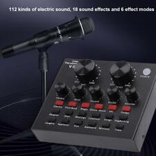 V8 Audio External USB Broadcast Headset Microphone Webcast Live Sound Card