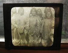 Kestone View Magic Lantern Slide: Eskimo Girls,Cape York, Greenland  c. 1910