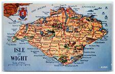 Postcard Isle Of Wight Map