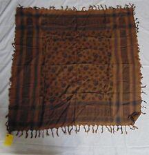 chocolate color cottonArab Shemagh Kafiya Head Scarf, Square Scarf, skull scarf
