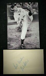 Vintage 1950s Playing Days Bob Feller Indians Signed Card HOF D 2010 JSA Auth