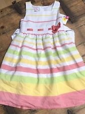 Jessica Ann Children's Girls 6X Easter Sleeveless Lined Striped Dress Coral NWT