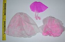 Preowned Barbie Doll Skirts Lot 2 Long 1 Ballet Good Condition Need Cleaned