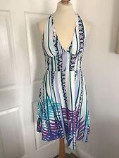 Warehouse Cotton Halter neck Summer Dress, Size 10!