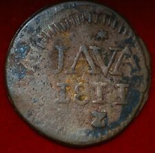Netherlands East Indies-Java 1/2 Stuiver Louis-Napoléon 1811 wight 4 g ---m68