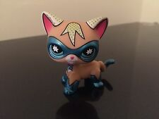 Littlest Pet Shop Comic Con Super Hero Masked Cat LPS RARE USA SELLER