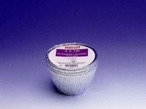 Caroline Foil 1lb Pudding Basins With Lids 110mm Dia x 62mm Deep (Pack of 4)