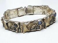 Design Silber Armband mit 7 Mondsteinen besetzt 835 Silber Meisterpunze /A676