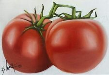 """""""Tomatoes"""" Oil Painting on canvas - Direct from the artist - 5 x 7 inches"""