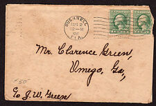 $Florida Machine Cancel Cover, Bushnell, 8/2/1919, fewer than 6 recorded imp.