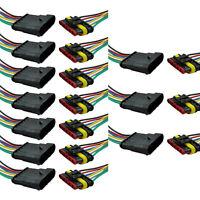 10Stk 6-Polig Kabel Set KFZ Steckverbinder Stecker Wasserdicht Steckverbindung