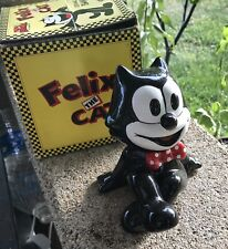 Vintage 80s Felix The Cat Ceramic Bank With Box