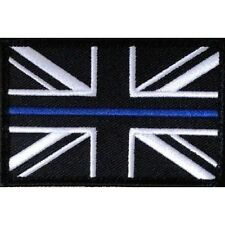 Thin Blue Line Police Union Jack Hook & Loop backed patch (UK Insignia) SMALL